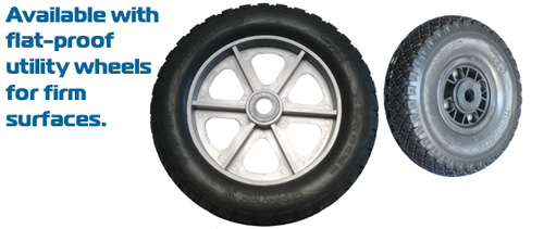 ...or available with utility wheels for rugged applications.