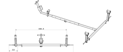 Adjustable length, width, and height.